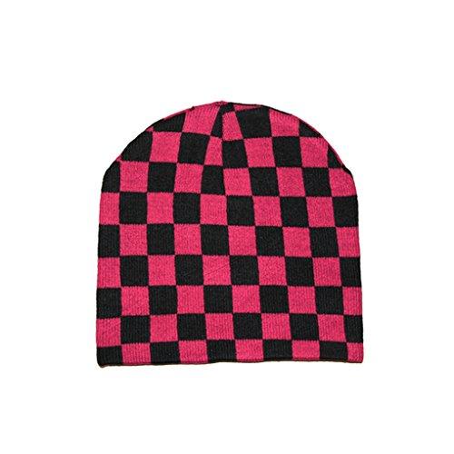 Unisexe Bonnet en tricot bonnet d'hiver différents motifs - Noir - Taille Unique