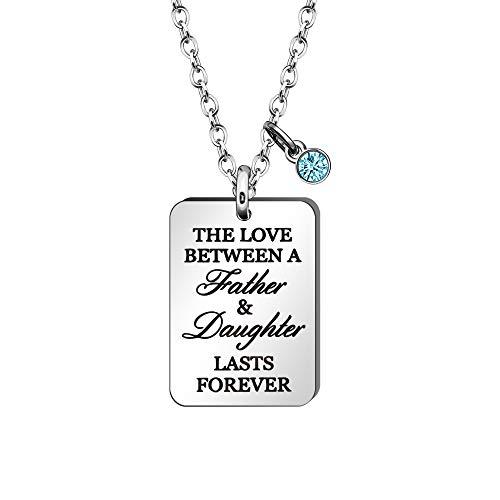 HEYEJET Collar de regalo para papá para el día del padre de la hija - El amor entre un padre y Daguther dura para hombre