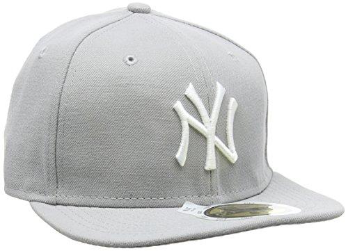 New Era New Era Kinder Baseball Mütze Mlb Basic NY Yankees 59Fifty Fitted, Grau (Grey/White), 51 cm