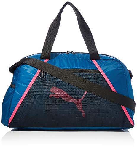PUMA AT ESS Grip Bag Bolsa Deporte, Mujer, Digi/Blue/Puma Black/Luminous Pink, OSFA