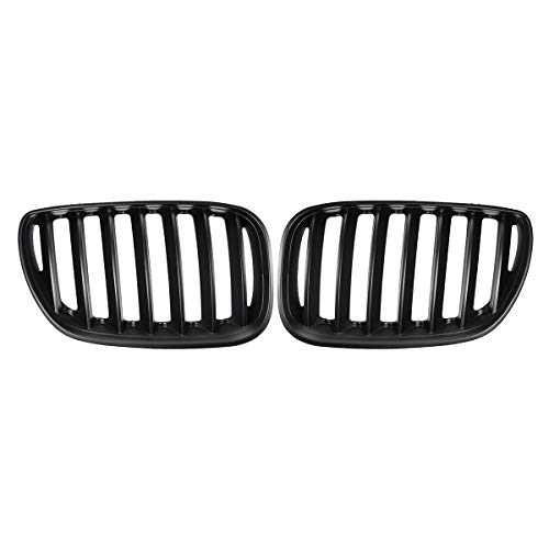 ZST-DM Front Ridney Grill, para X5 E53 2004 2005 2006 Coche Styling Racing Parrillas Pareja Matt Black Car Grid