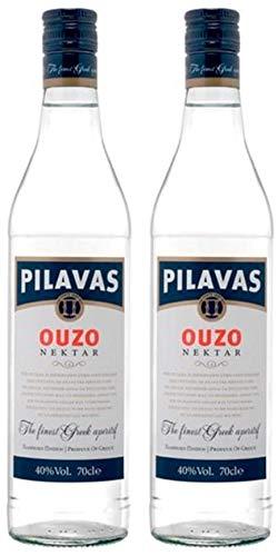 2x 0,7l Ouzo Pilavas Nektar 38% Vol. | + 1 x 20ml Olivenöl
