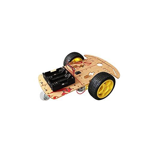 CR0010 - 4WD Robot Kit de chasis para Coche Inteligente de 4 Ruedas con Encoder de Velocidad para DIY - Arduino Smart Car Chassis Kit - Tacómetros de 2 velocidades - Fast Speed - DYI KIT para Arduino