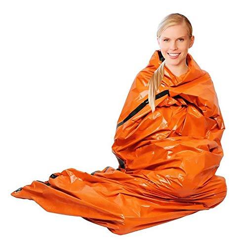 ZengBuks Couverture de Premiers Secours en Plein air Sac de Couchage d'urgence Isolation réfléchissante Orange Film aluminisé - Orange - Couverture
