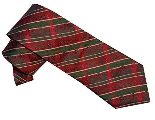 Moschen-Bayern Herren Krawatte Trachtenkrawatte Seide Rot Bordeauxe
