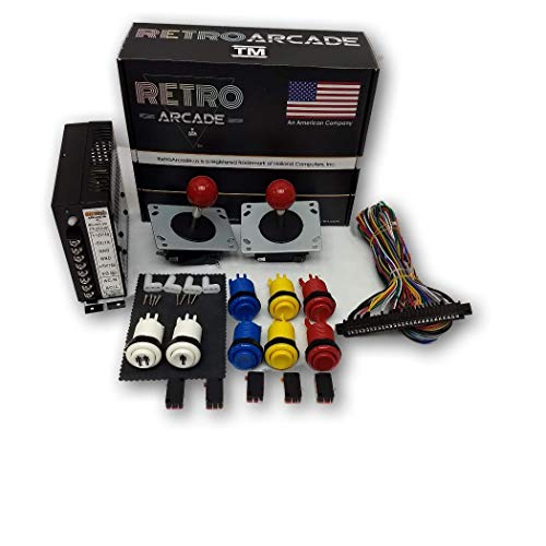RetroArcade.us ra-60-in-1-kit-ct Jamma 60-in-1, mame, Retro pi Classic Arcade multigame-multicade Arcade Cocktail Game Control kit