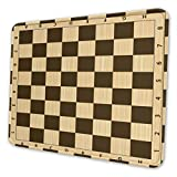 SXlihui Mouse Pad with Stitched Edge,Funny Non-Slip Rubber Base Mouse Pads with Designs,Mouse Mat for Computer Laptop,Wooden Chess Board
