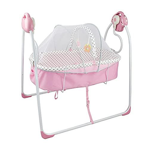 Columpio automático eléctrico seguro para bebés con mosquitera