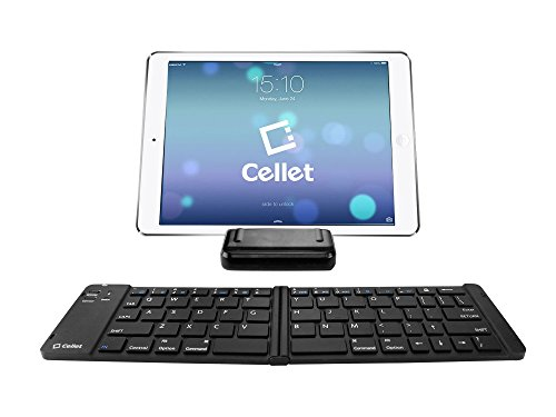 Cell-Stuff Wireless Folding Keyboard with Stand Compatible w//T-Mobile REVVL 2