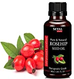 Seyal Rosehip Seed Oil 100% Pure & Natural Therapeutic Grade Organic Cold Pressed