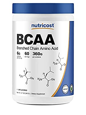 Nutricost BCAA Powder 2:1:1 60 Servings - Branched Chain Amino Acids
