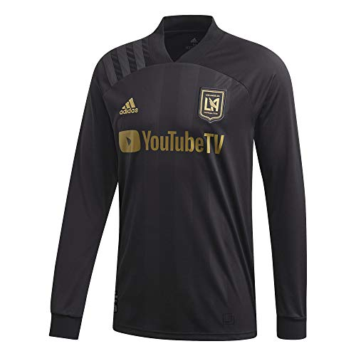 adidas 2020-21 LAFC Long-Sleeve Home Jersey - Black-Gold XL