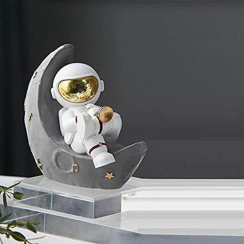 TSLZF Escultura Decorativa para Decoración del Hogar Divertido Adorno De Astronauta Decoración del Hogar Decoración De Escritorio De Oficina