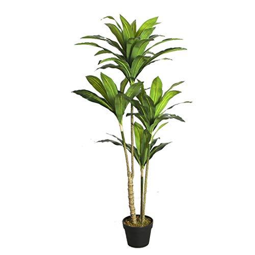 Yyqx Árbol Artificial simulación Rich árbol Bonsai Plant Simulation Salón Dormitorio Vestíbulo Decoración Falso árbol (Color : 125CM)