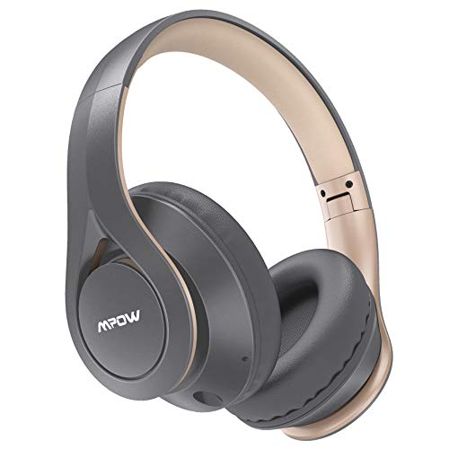 Mpow [60 Horas] Auriculares Bluetooth Diadema Over Ear, Cascos Bluetooth Diadema con Micrófono, Hi-Fi Sonido, Plegable Over Ear Cascos Bluetooth Auriculares para iPhone/iPad/Android/TV