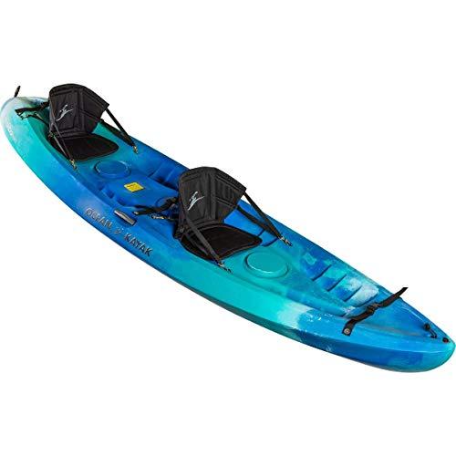 Ocean Kayak Malibu Two Tandem Sit-On-Top Recreational Kayak (Seaglass, 12-Feet)