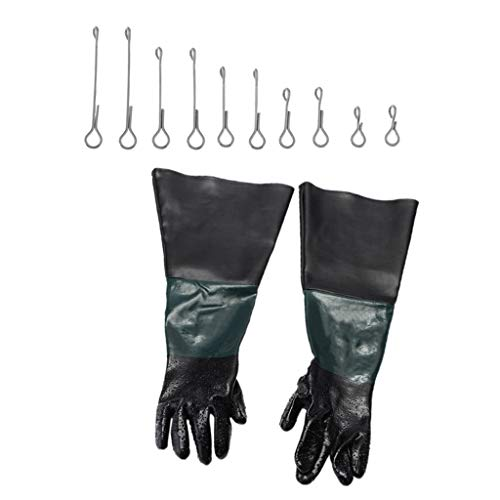 Bonarty 1 Paar 60cm Arbeit Schutz Handschuhe 10pcs
