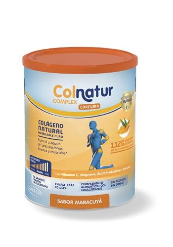 Colnatur Complex - Colágeno Natural Para Músculos y Articulaciones, Vitamina C, Magnesio y Ácido Hialurónico, con Cúrcuma, 250 Gramos