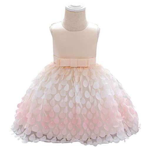 Uayasily Traje De La Falda del Vestido del Bebé del Acoplamiento del Cordón De La Princesa del para La Boda Cumpleaños Champagne 90cm
