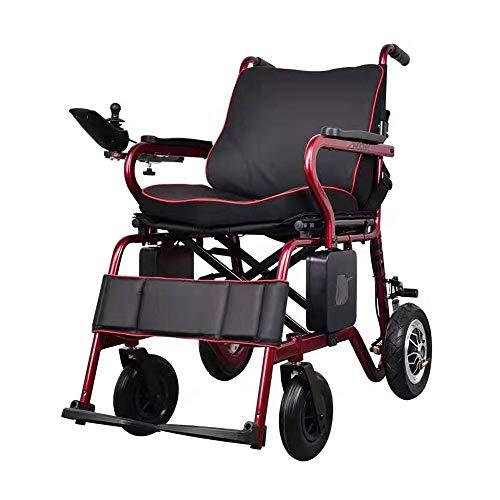 2020 Vollautomatische Elektro-Rollstuhl faltbar, intelligente Steuerung mit LCD-Display, kann Lift Ultra-Leicht-Elektro-Rollstuhl, Tragbares Elektro-Rollstuhl for behinderte Menschen-Einhändig Betreut
