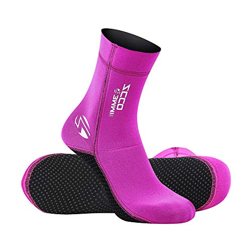 ZCCO 3mm Neoprene Socks for Scuba Diving Snorkeling Swimming&All Water Sports (Pink, S)