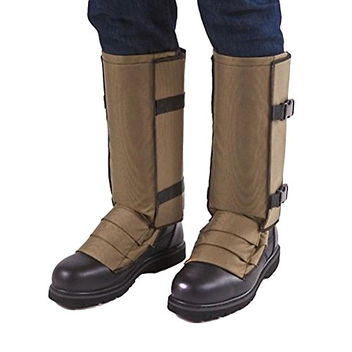 Crackshot Men's Snake Bite Proof Guardz Gaiters, Khaki Tan, X-Large