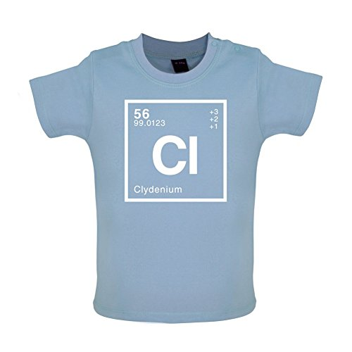 CLYDE - Periodic Element - Baby / Toddler T-Shirt - Dusty Blue - 3-6 Months