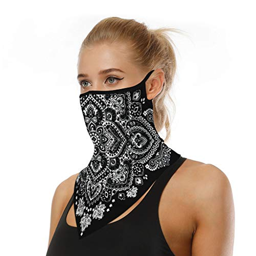 riou Face Shield Multifunktionstuch Motorrad Mundschutz Halstuch Bandana Schlauchschal für Damen Herren