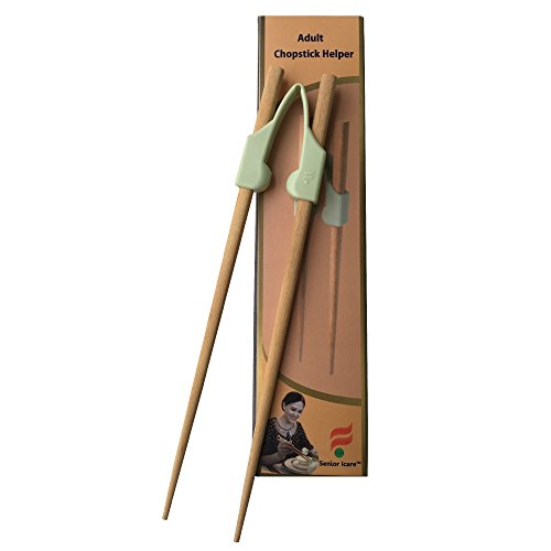 Senior ICare Chopstick Helper, Training Chopsticks for Adults, Beginner, Trainers or Learner - Right or Left Handed - Non-Slippery Reusable and Replaceable - BPA Free