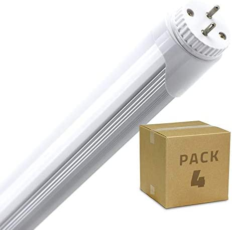 Ledkia Lighting Pack Tubo Led T8 1200mm Conexión Un Lateral 18w 4 Un Blanco Cálido 2700k 3200k Amazon Es Iluminación