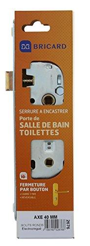 Bricard - 2676- Serrure pour porte de salle de bain- toilettes- - Electrozinguée