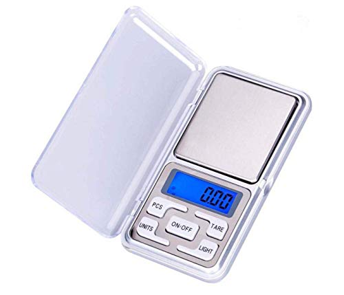 BidMerit Choice Mini Pocket Weight Scale Digital LCD Small Weighing Machine with Auto Calibration, Tare Full Capacity, Operational Temp for Gold Jewellery Chem Kitchen, 10-30 Degree (200/0.01 g)
