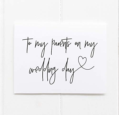 To My Parents on My Wedding Day Card - Mother and Father of Groom Gift...