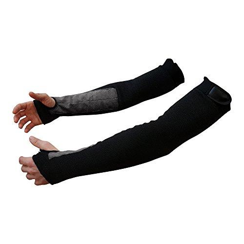 "22"" Black Kevlar Protective Arm Sleeves/Cut And Heat Resistant (1 Pair)"