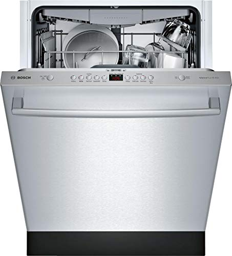 Bosch SHXM4AY55N 100 Series 24 Inch Built In Fully Integrated Dishwasher with 5 Wash Cycles, in Stainless Steel