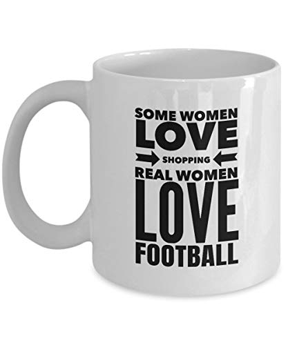 Cukudy Some Women Love Shopping Real Women Love Football Kaffeetasse, 325 ml