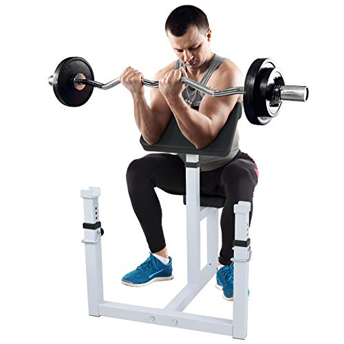 ZENY Preacher Curl Bench Arm Curl Weight Bench for Biceps Triceps Muscle Strength Training Isolated...