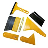 7pcs Squeegee Car Window Tinting Auto Film Wrapping Installer le kit d'outils d'application