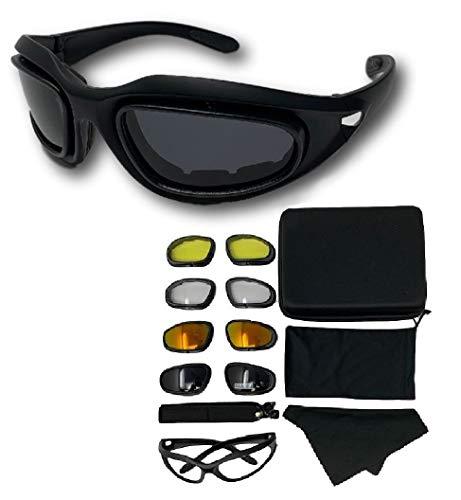 ゴーグル サングラス バイク 自転車 スキー ゴーグル 自転車サングラス スキーゴーグル サバゲー ゴーグル 防塵 サングラス レンズ4枚 UV400 抗紫外線 防塵 花粉症 目の保護