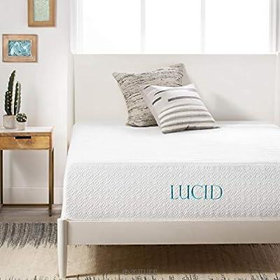 LUCID 14 Inch Memory Foam Bed Mattress Conventional, King, Medium