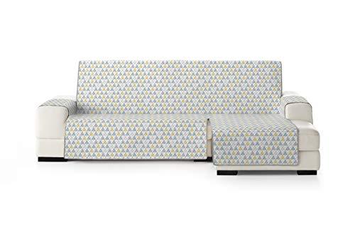 Eysa Nordic Funda, Poliéster, Amarillo/Gris, Chaise Longue 240cm. Válido para sofá Desde 250 a 300cm