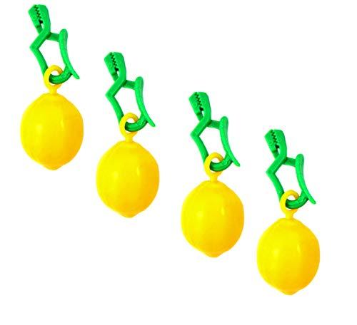 Haus&Garten Tischtuchbeschwerer Obst Tischtuchbommeln Tischtuchgewichte Tischtuchhalter (4xZitrone)