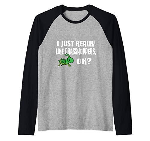 I Just Really Like Grasshoppers Ok Disfraz De Saltamontes Camiseta Manga Raglan