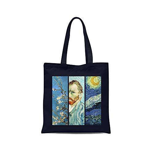 all sas Bolso shopper Van Gogh 100% tela de algodón estampado Made...
