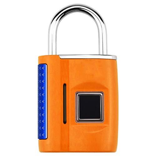 Fingerprint lock, electronic smart padlock, used for gym, suitcase, travel, door, suitcase, backpack, school, bicycle, office, keyless smart digital locker lock, TSA approved, USB charging, 1s unlock