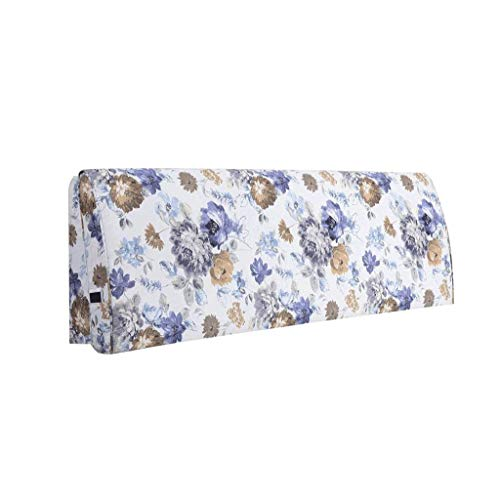 Shengluu Cabecero para cama king size, cojín de mesita de noche, respaldo de sofá, funda suave, protección de cintura, almohada de algodón, lavable, varios tamaños (color: C, tamaño: 120 x 55 cm)