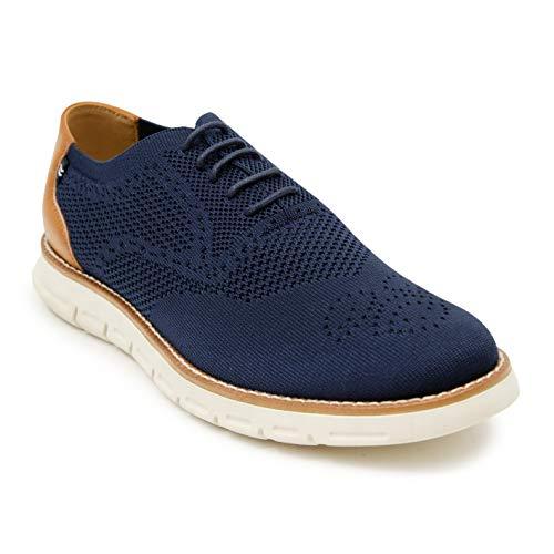 Nautica Wingdeck Oxford Zapatilla de moda para hombre, Azul (Punto azul marino 1), 40.5 EU