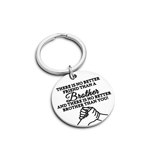 Brother Gifts Birthday Friend BFF Brother Keychain Big Brother Gifts for Men Little Brother Gifts