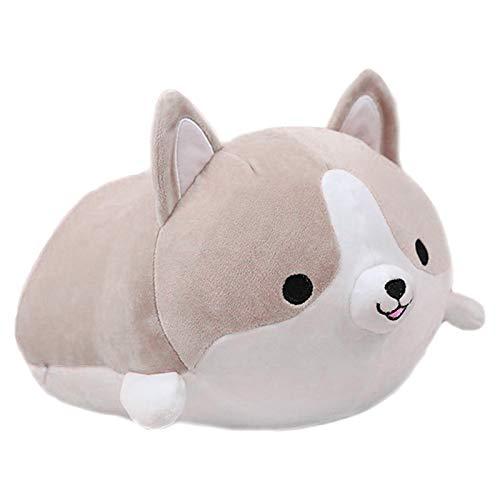 Further Corgi Juguete de peluche para perro, cojín suave de dibujos animados, cojín Shiba Inu de peluche, almohada de peluche para niños pequeños, almohadas de peluche, juguetes cómodos para muñecas
