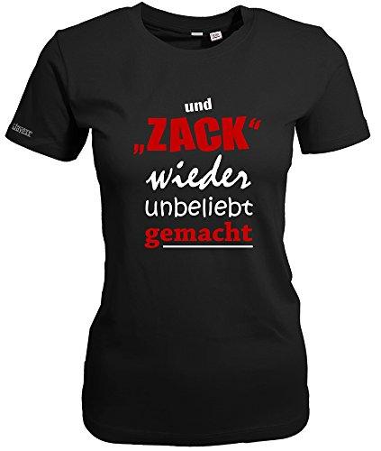 Jayess UND Zack Wieder Unbeliebt GEMACHT - Schwarz - Women T-Shirt by Gr. L